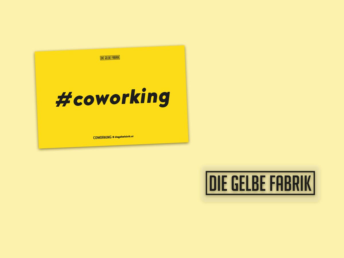 Sticker für Die Gelbe Fabrik Coworking Space in Dornbirn von Simone Angerer.