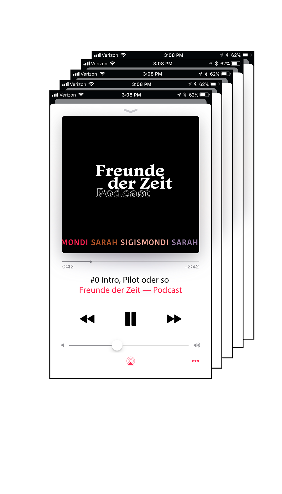 Freunde der Zeit Podcast Grafik und Logodesign von Simone Angerer.