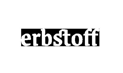 Erbstoff Logo. Referenz von Simone Angerer Grafikdesign.
